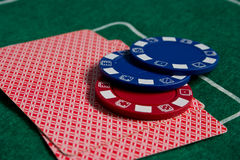 Cartões e microplaquetas Imagens de Stock Royalty Free