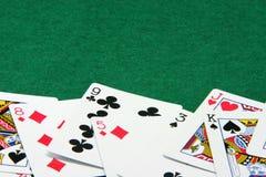 Cartões e sentido para o fundo Imagem de Stock Royalty Free