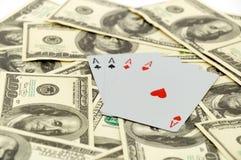 Cartões em 100 dólares Foto de Stock