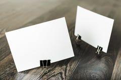 Cartões em branco Foto de Stock Royalty Free