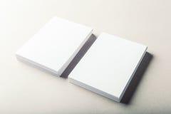 Cartões em branco Fotos de Stock Royalty Free