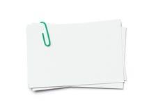 Cartões em branco com trajeto de grampeamento Foto de Stock Royalty Free