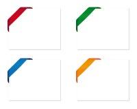 Cartões em branco do presente com fitas de canto Imagem de Stock