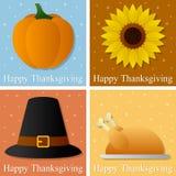 Cartões felizes do dia da acção de graças Imagens de Stock Royalty Free