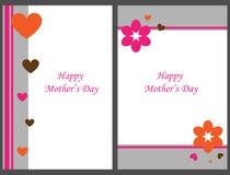Cartões felizes do dia de matriz Fotografia de Stock