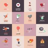 Cartões felizes do dia de Valentim Fotografia de Stock