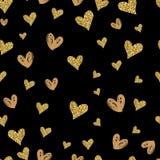 Cartões felizes do dia de Valentim com ornamento, corações, fita, anjo e seta Imagem de Stock Royalty Free