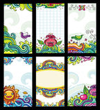 Cartões florais coloridos Fotografia de Stock