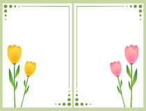 Cartões florais com tulips ilustração do vetor