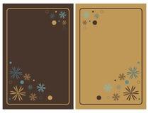 Cartões florais do convite Fotos de Stock
