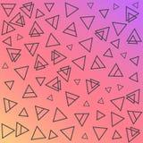 Cartões geométricos na moda de memphis dos elementos Textura retro do estilo, teste padrão e elementos geométricos Projeto abstra Fotografia de Stock