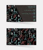 Cartões, identidade corporativa, estilo incorporado, tradutor, intérprete Ilustração Royalty Free