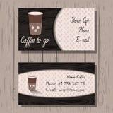 Cartões, identidade corporativa na casa do café, Ilustração Stock
