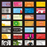 Cartões inteiramente editable da visita do vetor com l diferente Foto de Stock