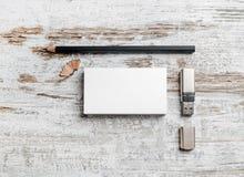 Cartões, lápis, flash do usb Imagem de Stock