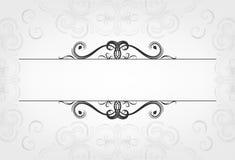 Cartões luxuosos com elementos caligráficos e espaço para o texto com fundo da malha Imagens de Stock