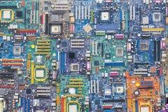 Cartões-matrizes do computador fotografia de stock royalty free