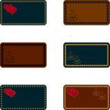 Cartões, moldes para convites, cartões, menus, cartões Fotos de Stock Royalty Free