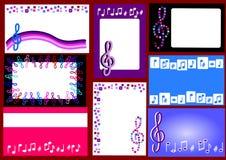 Cartões musicais Imagem de Stock