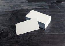 Cartões na madeira Imagem de Stock