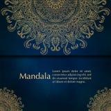 Cartões ou convites com teste padrão da mandala Fotos de Stock