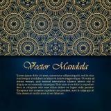 Cartões ou convites com teste padrão da mandala Imagens de Stock Royalty Free