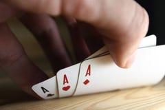 Cartões para o póquer Foto de Stock
