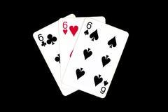 Cartões para o pôquer Fotografia de Stock