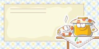 Cartões para receitas do alimento Fotografia de Stock