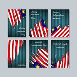 Cartões patrióticos de Malásia para o dia nacional ilustração do vetor