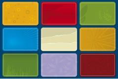 Cartões plásticos (vetor) Fotografia de Stock Royalty Free