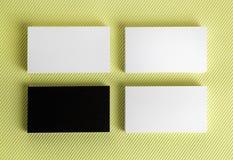 Cartões preto e branco vazios Imagem de Stock