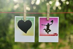 Cartões quadrados da foto foto de stock royalty free
