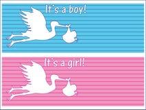 Cartões recém-nascidos Foto de Stock Royalty Free