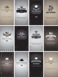 Cartões retros Foto de Stock Royalty Free