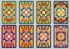 Cartões retros ajustados Fotografia de Stock Royalty Free