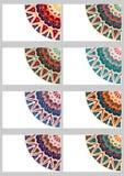 Cartões retros ajustados Imagens de Stock Royalty Free