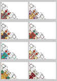 Cartões retros ajustados Fotos de Stock Royalty Free