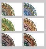 Cartões retros ajustados Fotografia de Stock