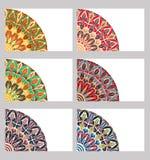 Cartões retros ajustados Foto de Stock