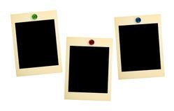 Cartões retros da foto Fotografia de Stock