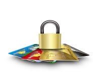 Cartões seguros Imagens de Stock
