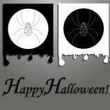 Cartões simples com aranhas Imagem de Stock