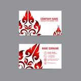 Cartões tailandeses de Art Card Vetora no fundo cinzento imagem de stock