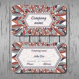 Cartões, teste padrão redondo com formas coloridos Ilustração Royalty Free