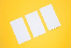 Cartões vazios Foto de Stock Royalty Free