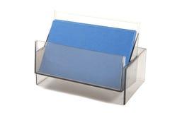Cartões vazios azuis em uma caixa Fotografia de Stock Royalty Free