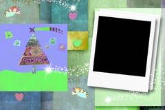 Cartões vazios do quadro da foto do Natal ilustração royalty free