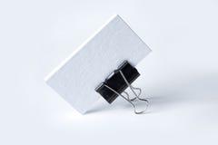 Cartões vazios no branco Imagem de Stock