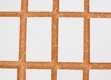 Cartões vazios no fundo do corkboard Fotografia de Stock Royalty Free